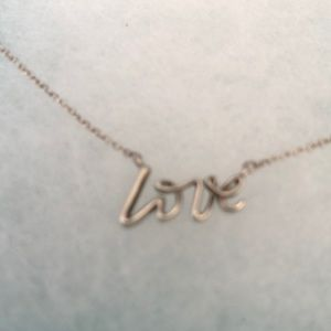 Authentic Tiffany & Co. LOVE 925 silver necklace